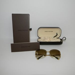 Louis Vuitton Lily Gold and Brown Sunglasses